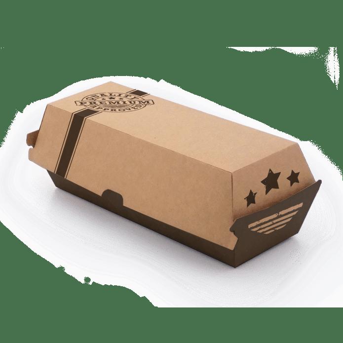 Hotdog boks pap take-away