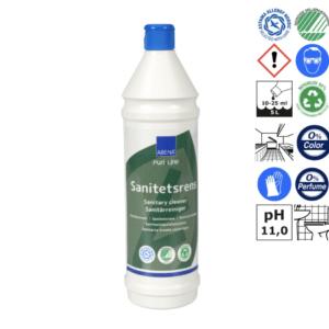 Alkalisk sanitetsrens uden farve og parfume