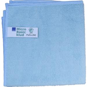 Blå Rengøringsklud basic mikrofiber 32x32 cm