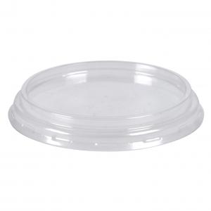 Låg til dressingbæger 100 ml, Ø7,5cm, klar, RPET, rund, tilhørende 10206