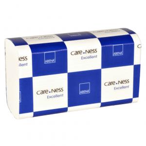 Håndklædeark, Abena Care-Ness Excellent, 2-lags, Z-fold, 24x20,6cm, 8 cm, hvid, 100% nyfiber, 4000 stk.